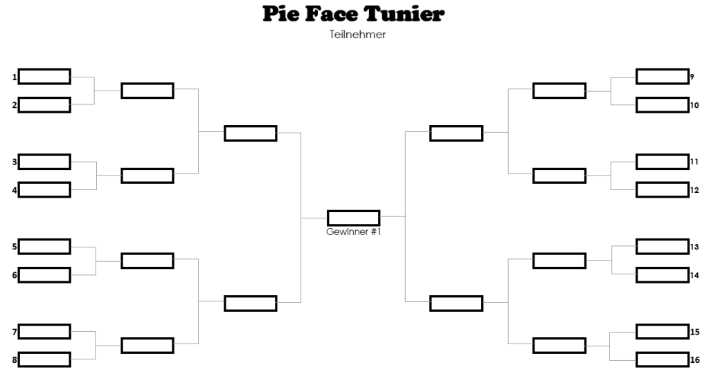 Pie Face Tunier